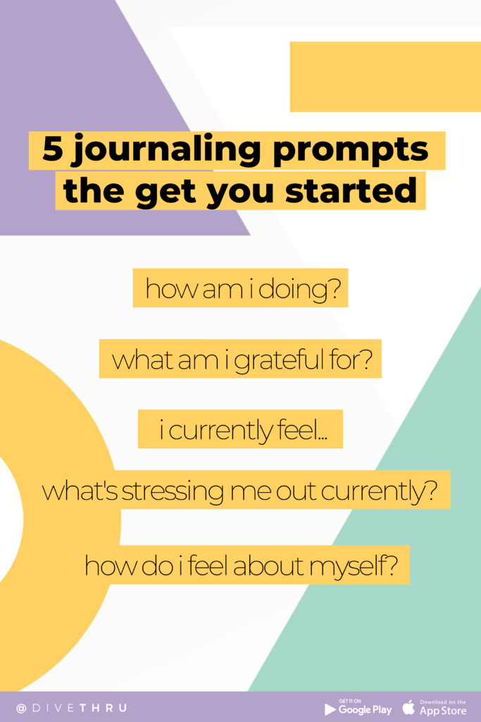 5 journaling prompts the get you started